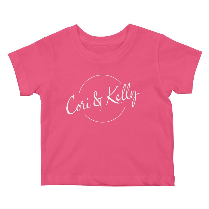 White Logo Kids Baby T-Shirt by Cori & Kelly Official Merchandise