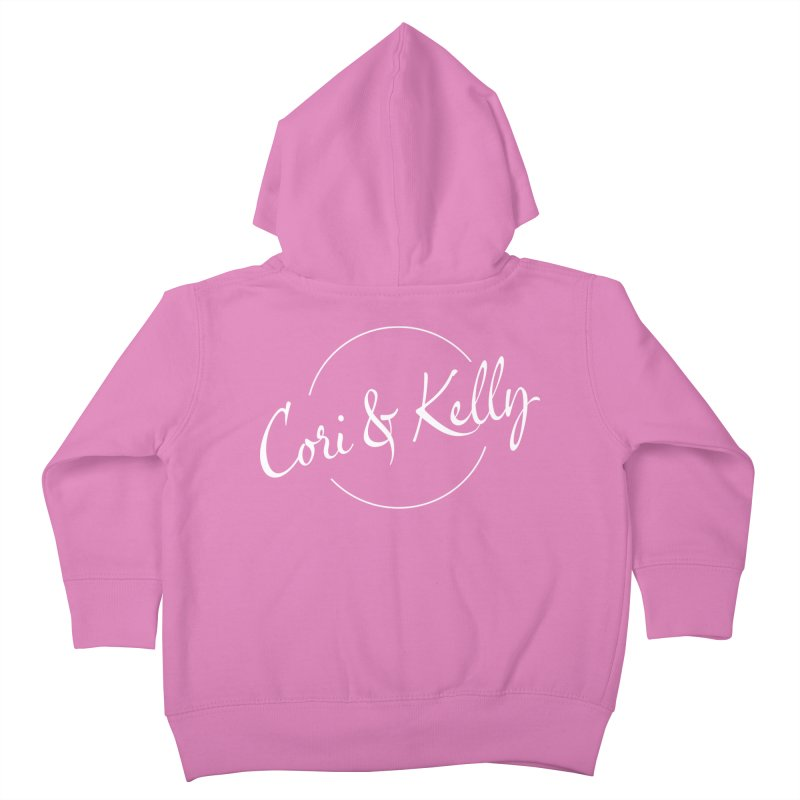 White Logo Kids Toddler Zip-Up Hoody by Cori & Kelly Official Merchandise