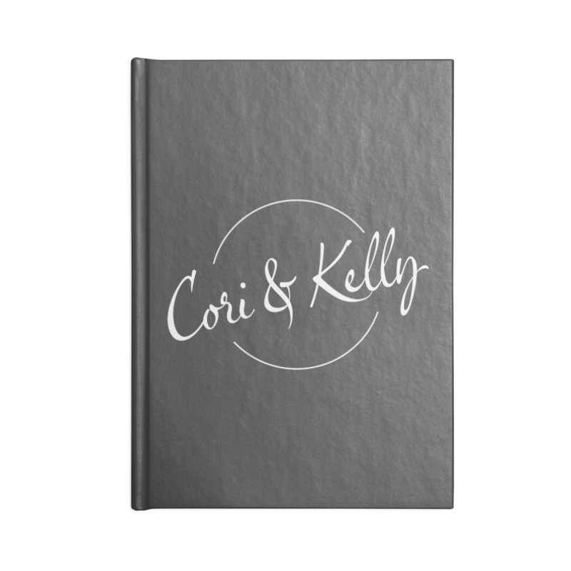 White Logo Accessories Lined Journal Notebook by Cori & Kelly Official Merchandise