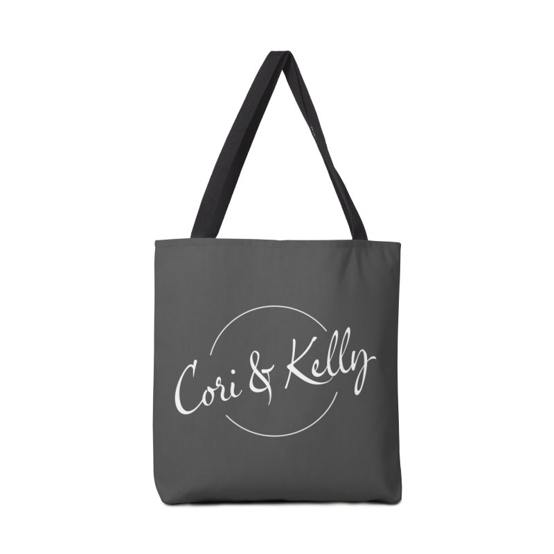 White Logo Accessories Bag by Cori & Kelly Official Merchandise