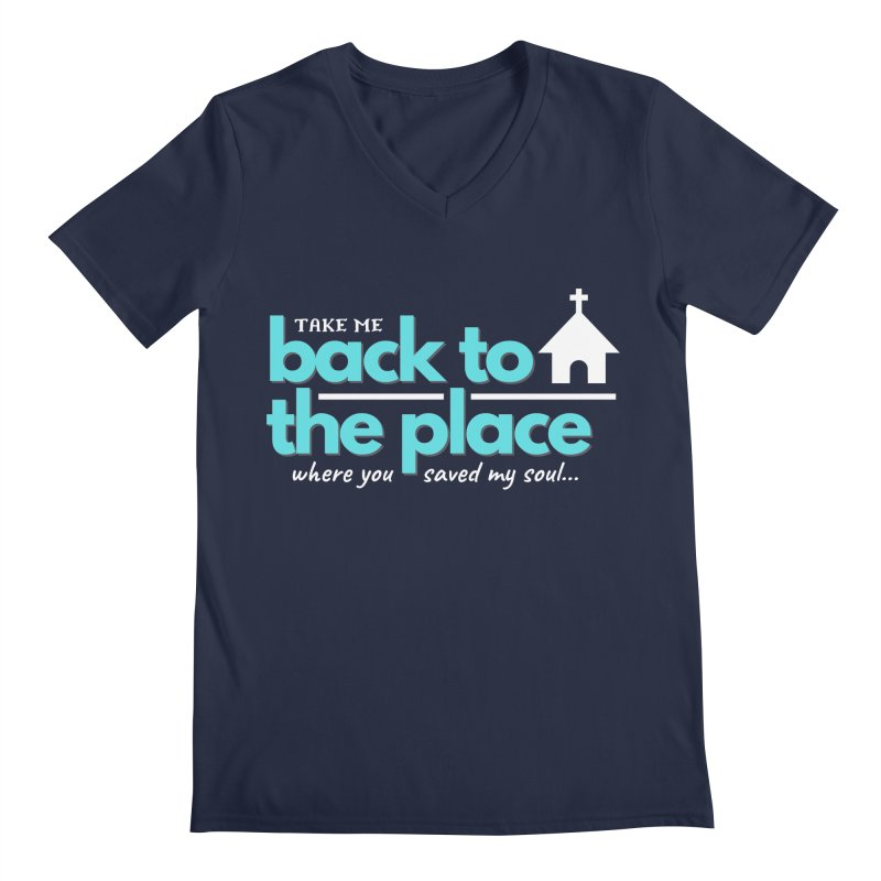 Back to The Place Men's Regular V-Neck by Cori & Kelly Official Merchandise