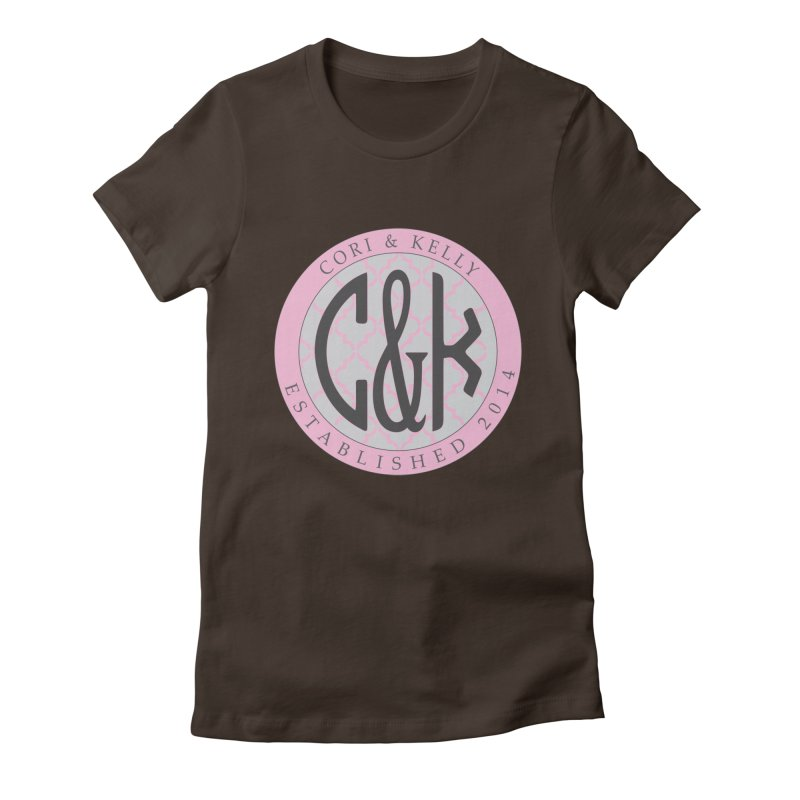 C&K Monogram Women's Fitted T-Shirt by Cori & Kelly Official Merchandise