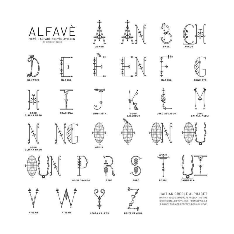Alfavè Kreyòl Home Fine Art Print by Corine Bond's Shop