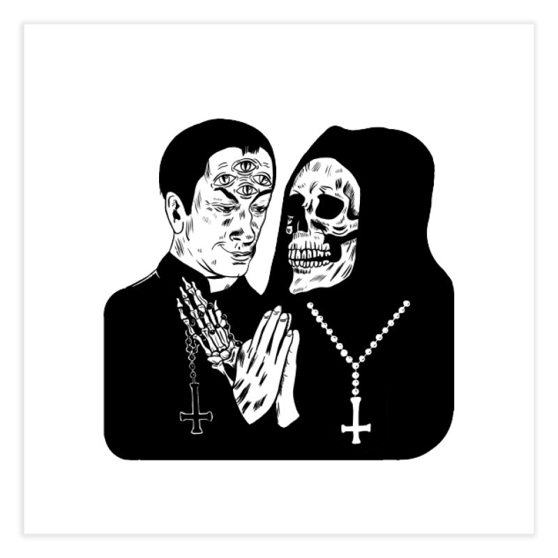 EVIL PRIEST Home Fine Art Print by Hate Baby Comix Artist Shop