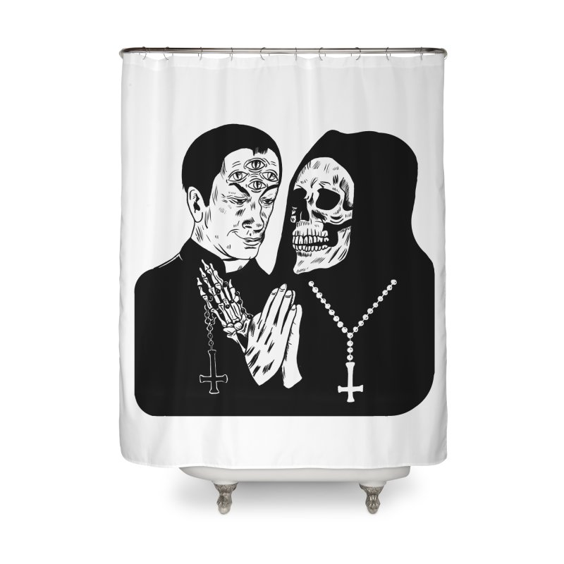 EVIL PRIEST Home Shower Curtain by Hate Baby Comix Artist Shop