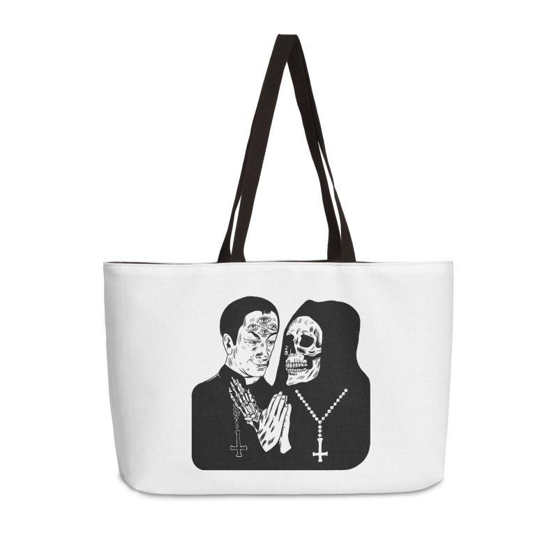EVIL PRIEST Accessories Weekender Bag Bag by Hate Baby Comix Artist Shop