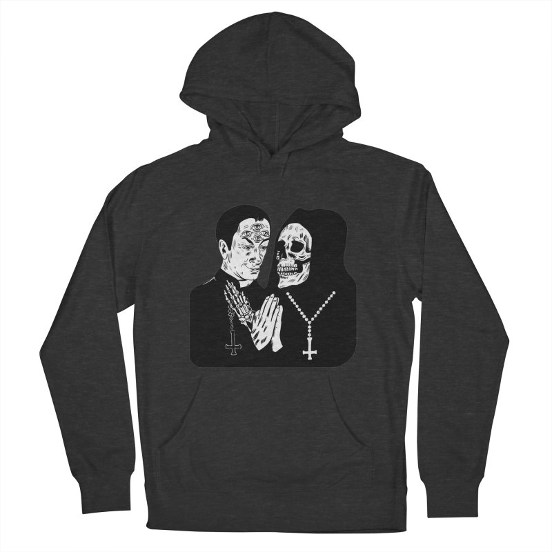 Evil Priest Men's French Terry Pullover Hoody by Hate Baby Artist Shop