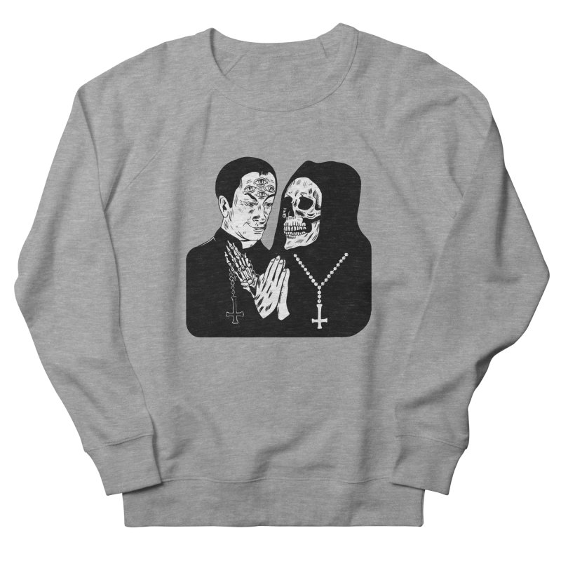 Evil Priest Men's French Terry Sweatshirt by Hate Baby Artist Shop