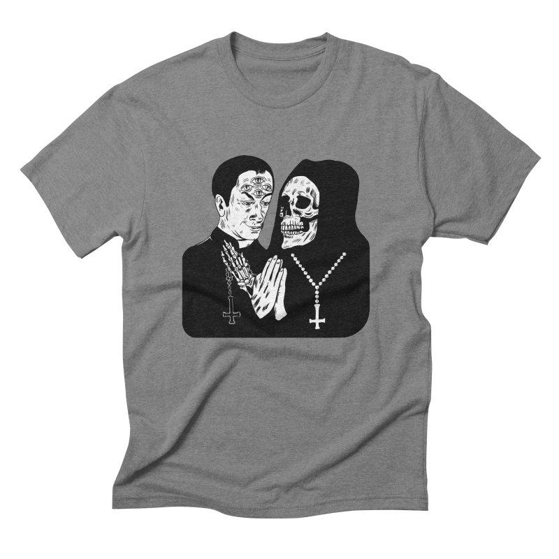 Evil Priest Men's Triblend T-Shirt by Hate Baby Artist Shop