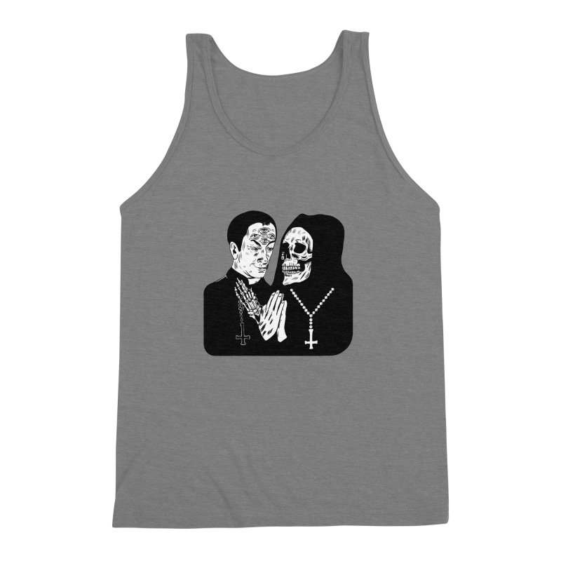 Evil Priest Men's Triblend Tank by Hate Baby Artist Shop