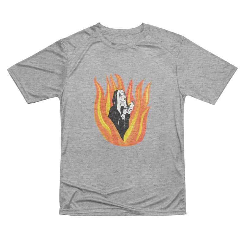 BURNING NUN Men's Performance T-Shirt by Hate Baby Comix Artist Shop