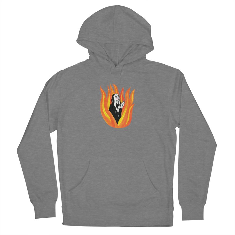 BURNING NUN Women's French Terry Pullover Hoody by Hate Baby Comix Artist Shop