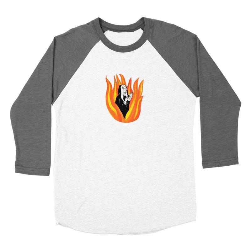 BURNING NUN Women's Longsleeve T-Shirt by Hate Baby Comix Artist Shop