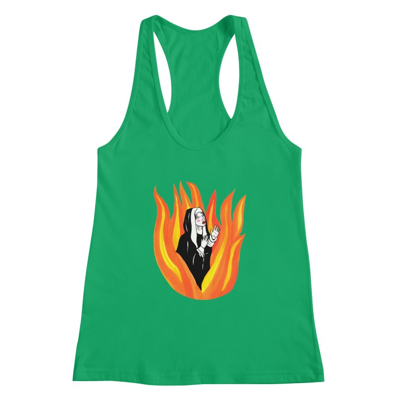 BURNING NUN Women's Tank by Hate Baby Comix Artist Shop