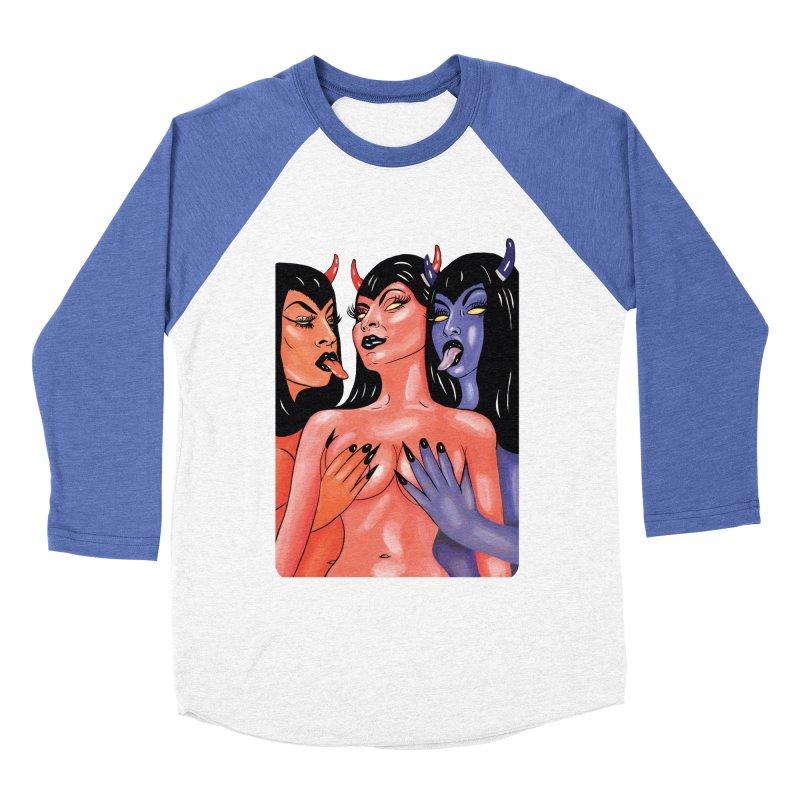 DEMON BABES Women's Baseball Triblend Longsleeve T-Shirt by Hate Baby Comix Artist Shop
