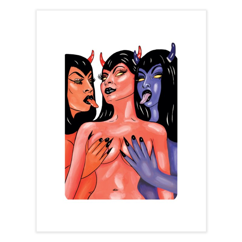 DEMON BABES Home Fine Art Print by Hate Baby Comix Artist Shop