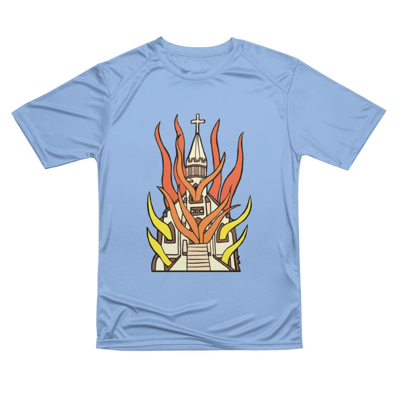 BURNING CHURCH Women's T-Shirt by Hate Baby Comix Artist Shop