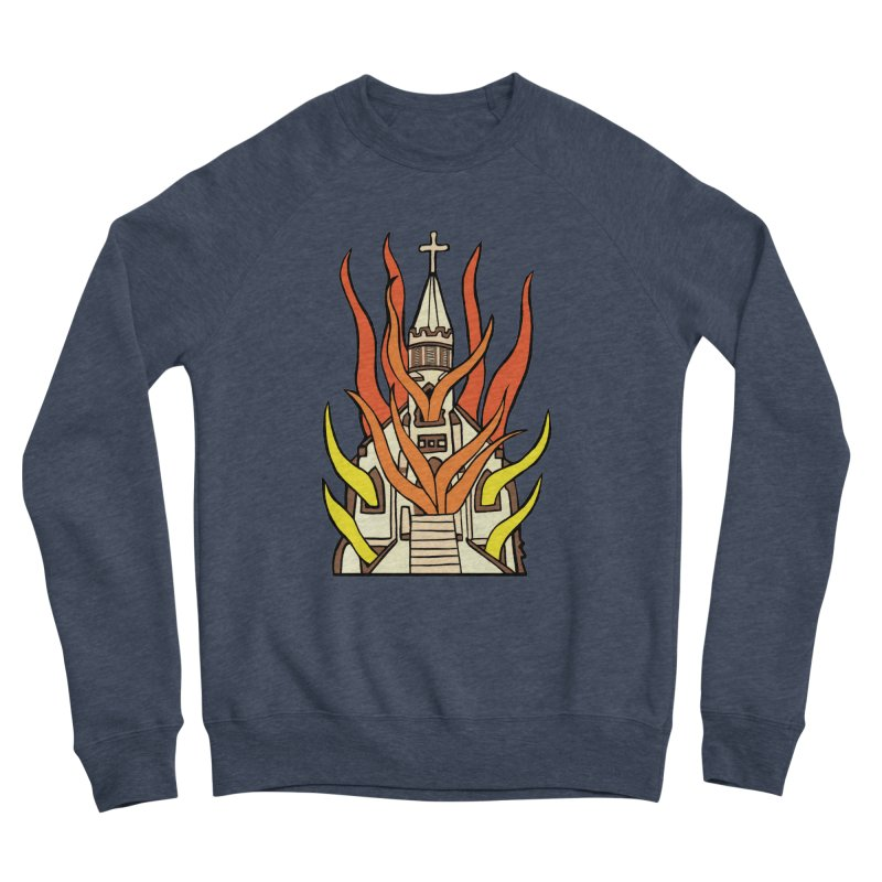 BURNING CHURCH Women's Sponge Fleece Sweatshirt by Hate Baby Comix Artist Shop