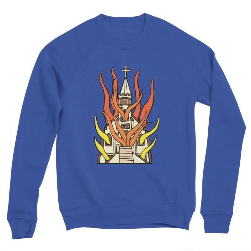 BURNING CHURCH Women's Sweatshirt by Hate Baby Comix Artist Shop