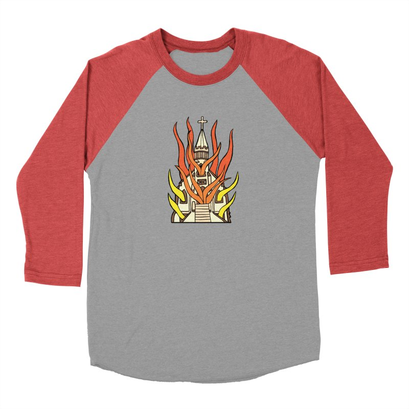 BURNING CHURCH Men's Longsleeve T-Shirt by Hate Baby Comix Artist Shop