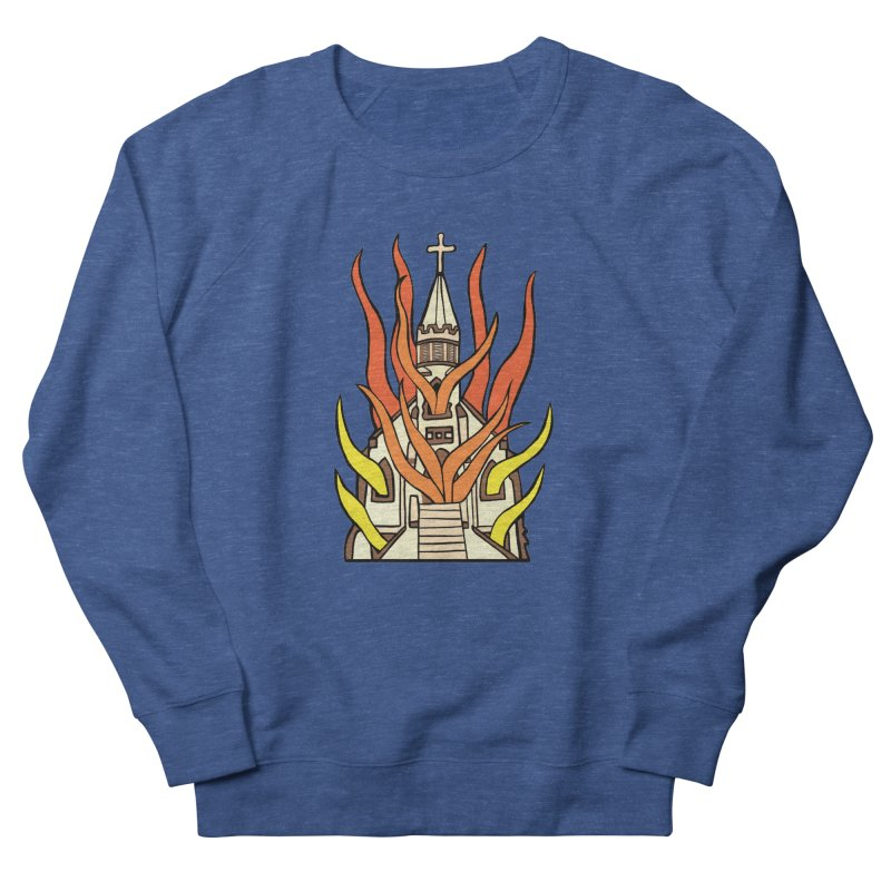 BURNING CHURCH Men's Sweatshirt by Hate Baby Comix Artist Shop