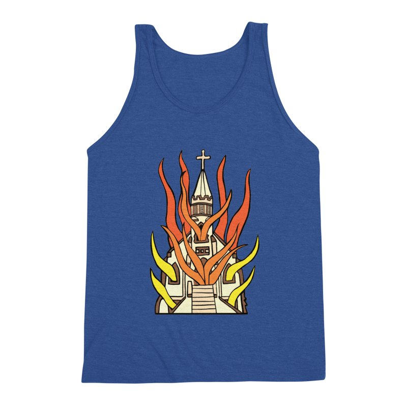 BURNING CHURCH Men's Tank by Hate Baby Comix Artist Shop