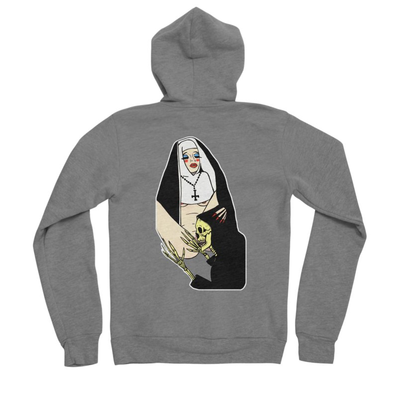 DEATH LICK Men's Sponge Fleece Zip-Up Hoody by Hate Baby Comix Artist Shop