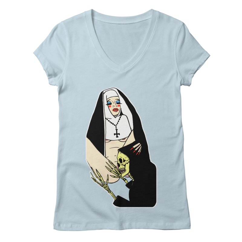 DEATH LICK Women's Regular V-Neck by Hate Baby Comix Artist Shop