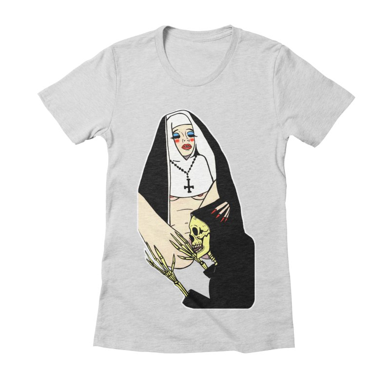 DEATH LICK Women's Fitted T-Shirt by Hate Baby Comix Artist Shop