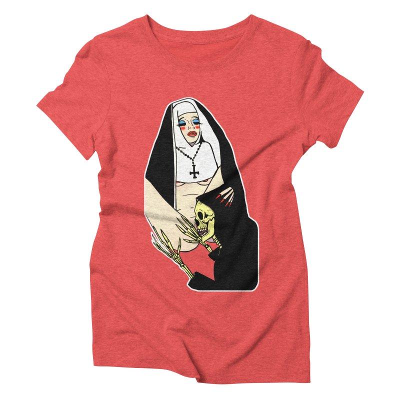 DEATH LICK Women's Triblend T-Shirt by Hate Baby Comix Artist Shop