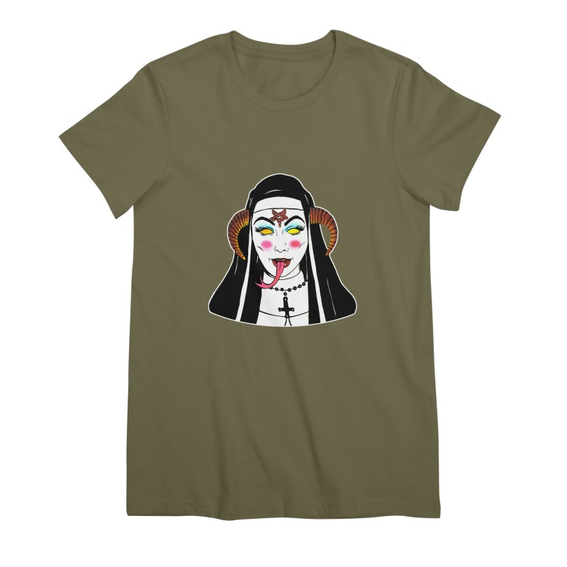 DEMON NUN Women's Premium T-Shirt by Hate Baby Comix Artist Shop