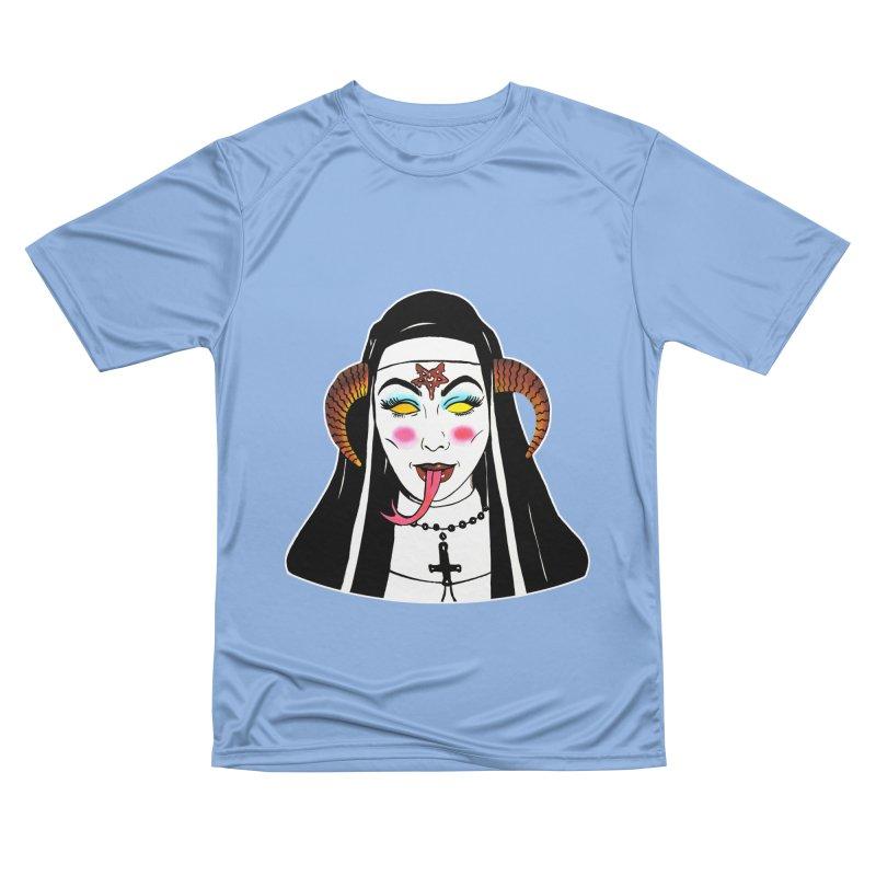 DEMON NUN Women's Performance Unisex T-Shirt by Hate Baby Comix Artist Shop