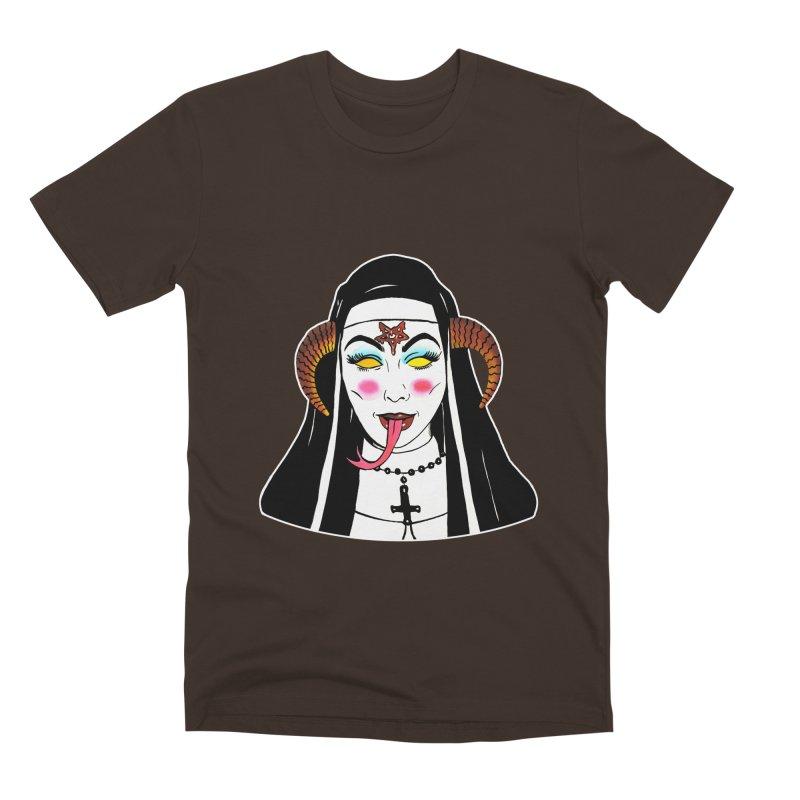 DEMON NUN Men's Premium T-Shirt by Hate Baby Comix Artist Shop