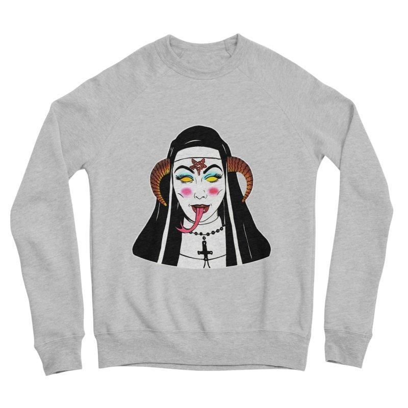 DEMON NUN Men's Sponge Fleece Sweatshirt by Hate Baby Comix Artist Shop