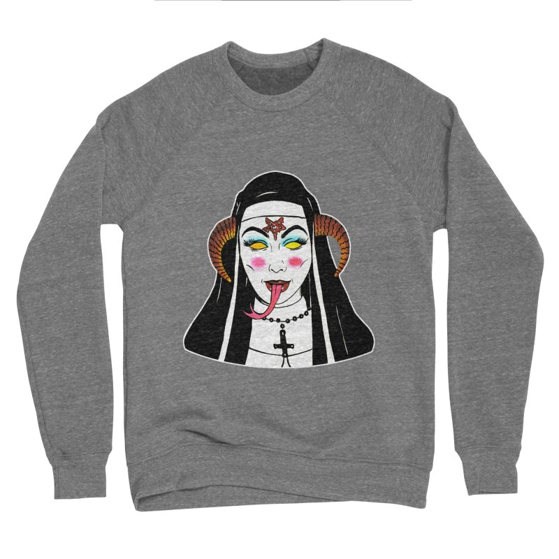 DEMON NUN Men's Sponge Fleece Sweatshirt by Hate Baby Comix Artist Shop