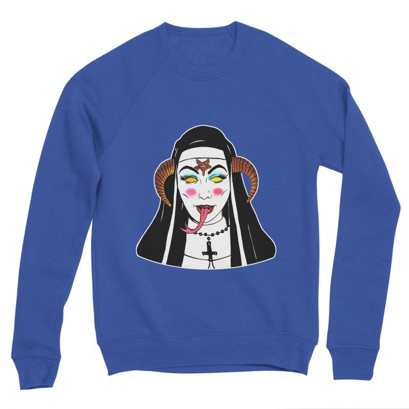 DEMON NUN Women's Sponge Fleece Sweatshirt by Hate Baby Comix Artist Shop