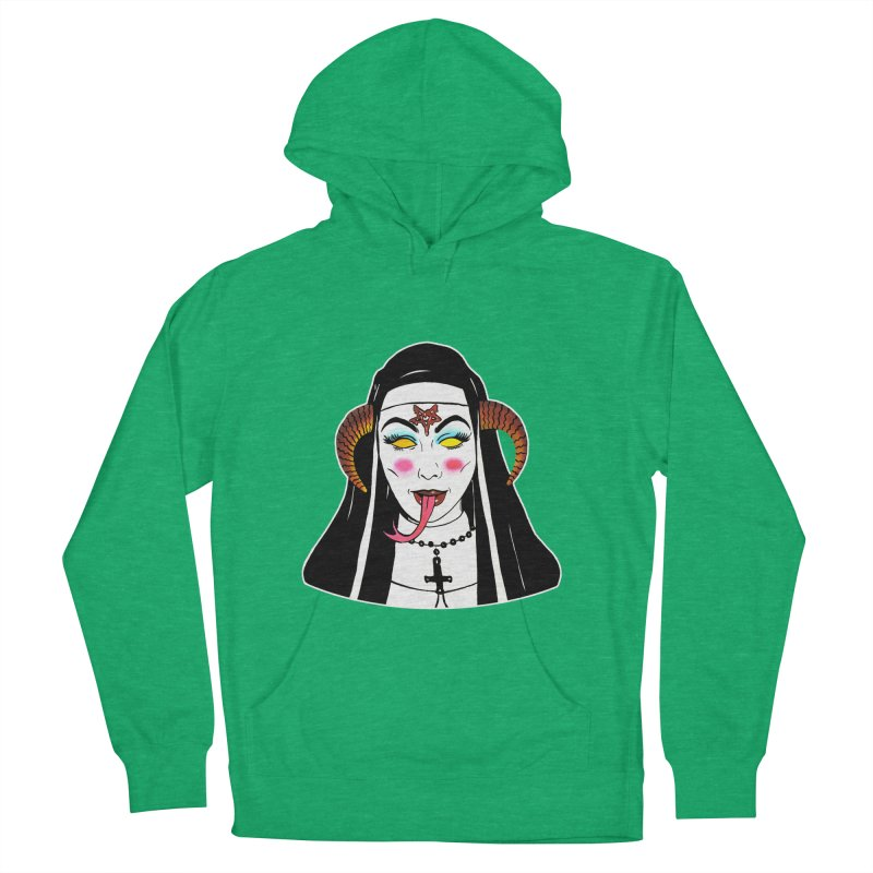 DEMON NUN Men's French Terry Pullover Hoody by Hate Baby Comix Artist Shop