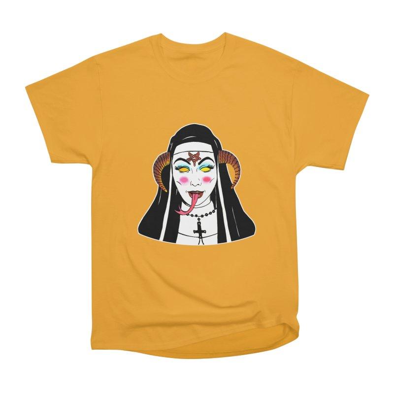 DEMON NUN Men's Heavyweight T-Shirt by Hate Baby Comix Artist Shop