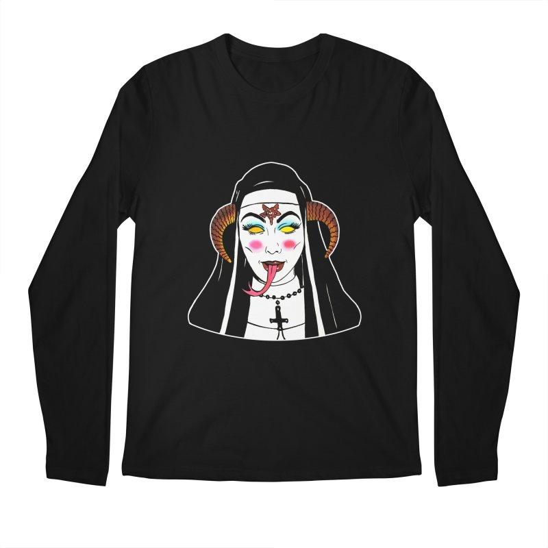 DEMON NUN Men's Regular Longsleeve T-Shirt by Hate Baby Comix Artist Shop