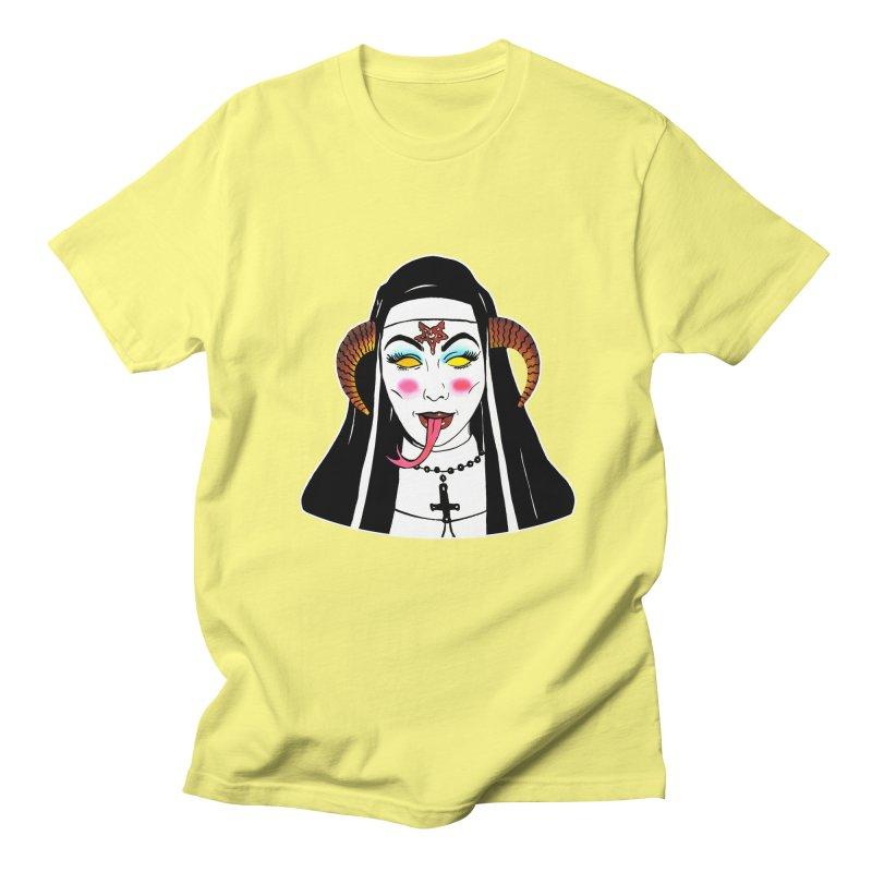 DEMON NUN Men's Regular T-Shirt by Hate Baby Comix Artist Shop