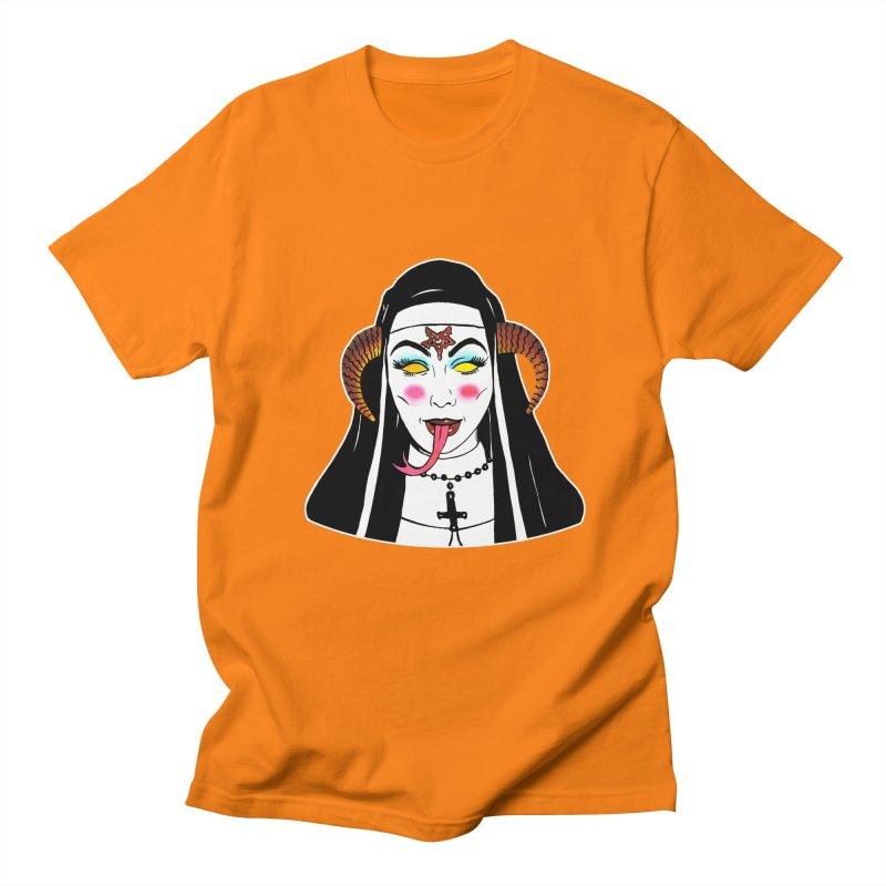 DEMON NUN Women's Regular Unisex T-Shirt by Hate Baby Comix Artist Shop