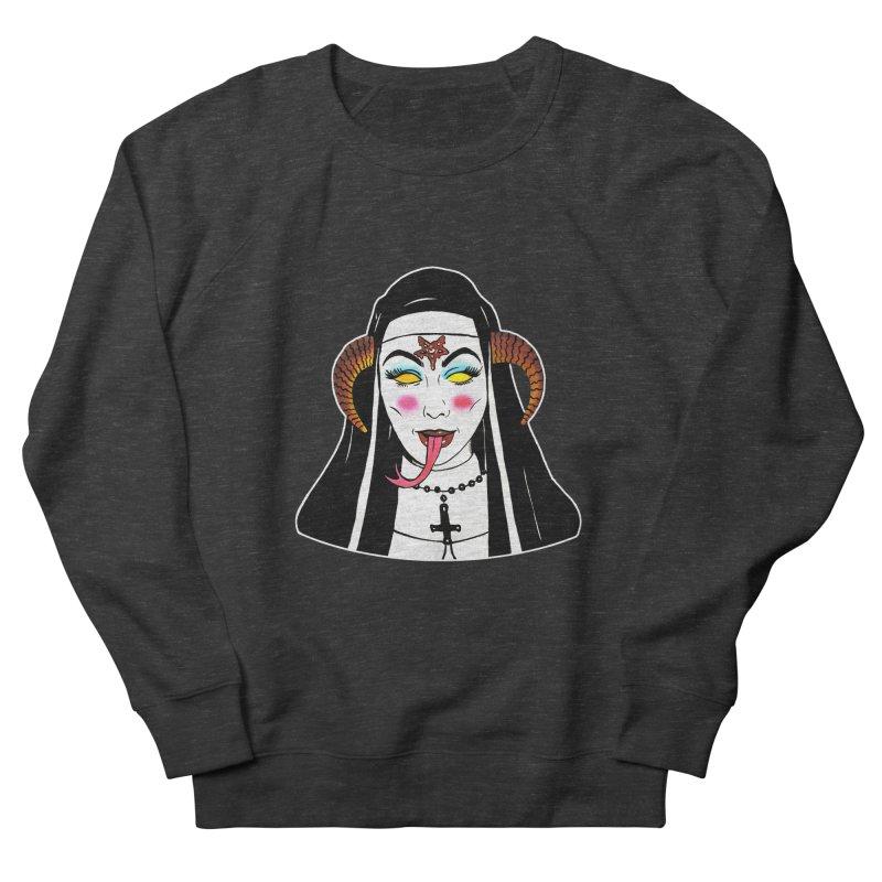 DEMON NUN Women's French Terry Sweatshirt by Hate Baby Comix Artist Shop