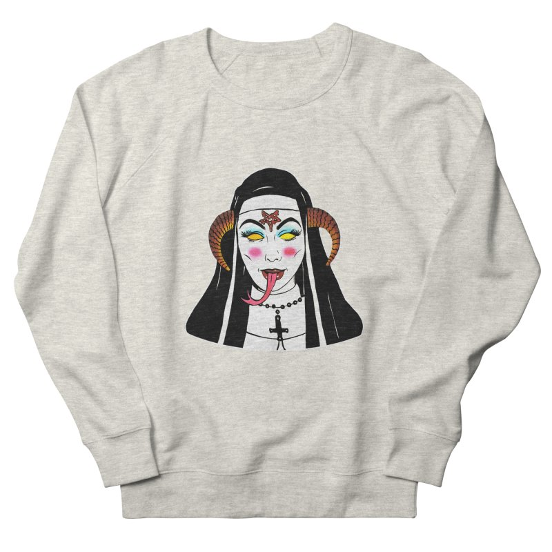 DEMON NUN Women's French Terry Sweatshirt by Hate Baby Comix Artist Shop