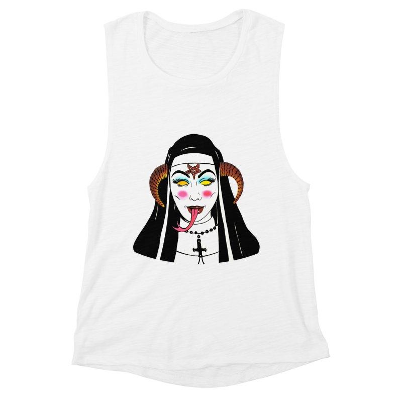 DEMON NUN Women's Muscle Tank by Hate Baby Comix Artist Shop
