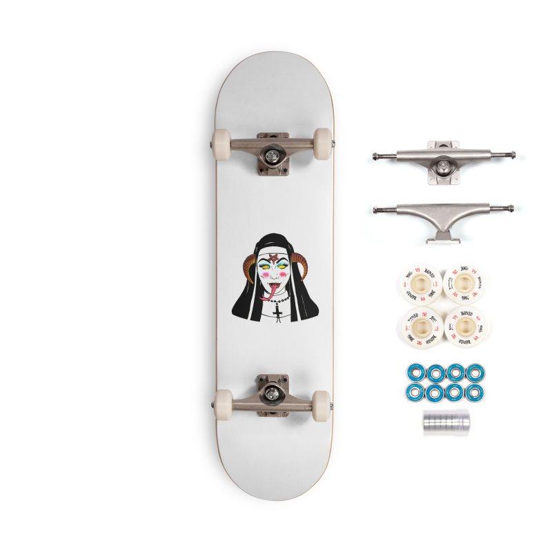 DEMON NUN Accessories Complete - Premium Skateboard by Hate Baby Comix Artist Shop