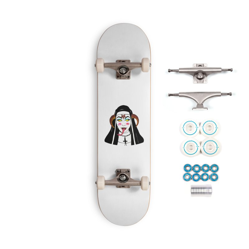DEMON NUN Accessories Complete - Basic Skateboard by Hate Baby Comix Artist Shop