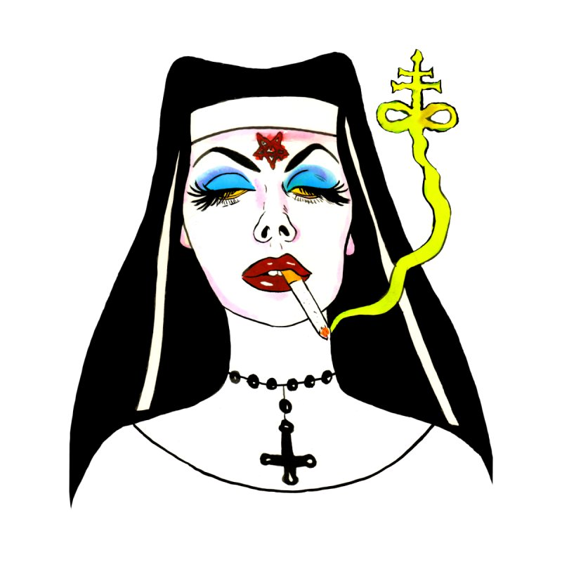 SMOKING NUN Men's T-Shirt by Hate Baby Comix Artist Shop