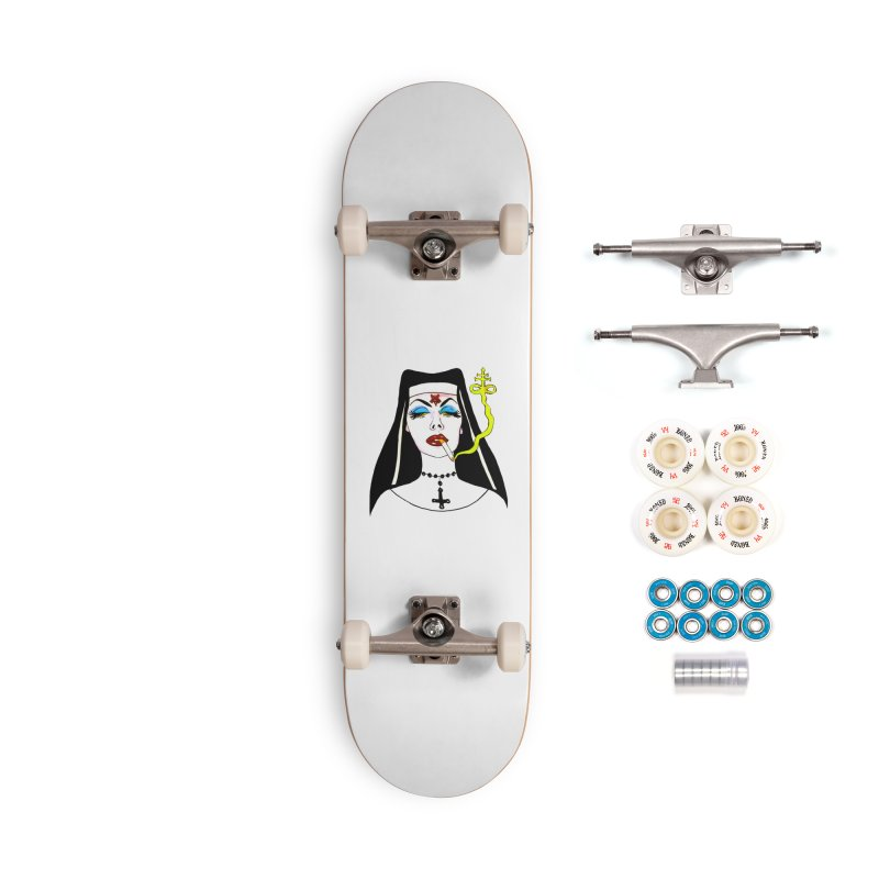 SMOKING NUN Accessories Complete - Premium Skateboard by Hate Baby Comix Artist Shop