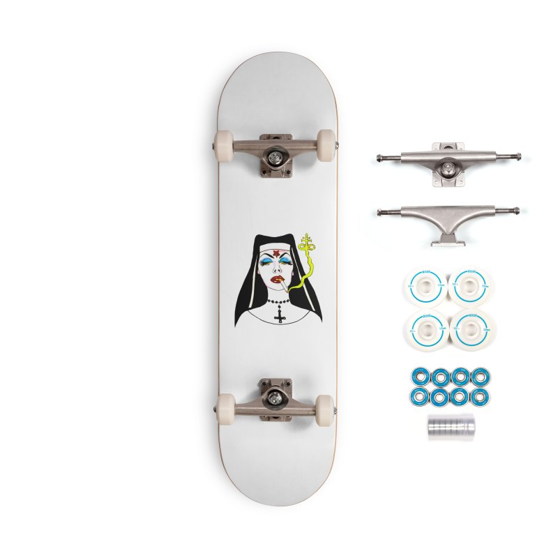 SMOKING NUN Accessories Complete - Basic Skateboard by Hate Baby Comix Artist Shop