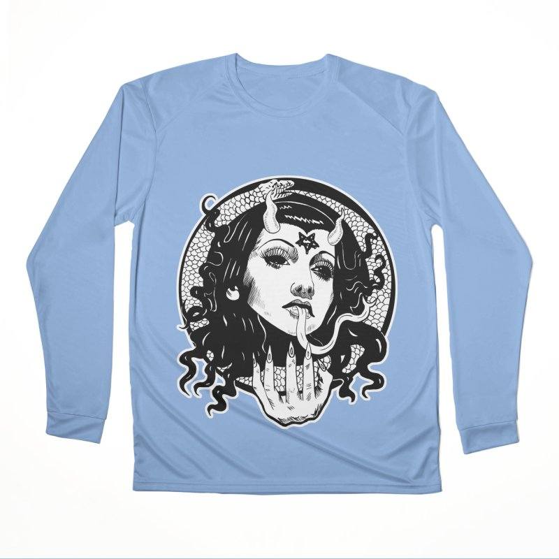 OMEN TEE Women's Longsleeve T-Shirt by Hate Baby Comix Artist Shop